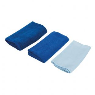 Silverline 250276 3 Piece Microfibre Cloth Cleaning Set